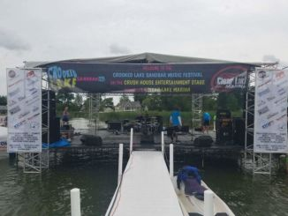 Crooked Lake Sandbar Music Fest Stage