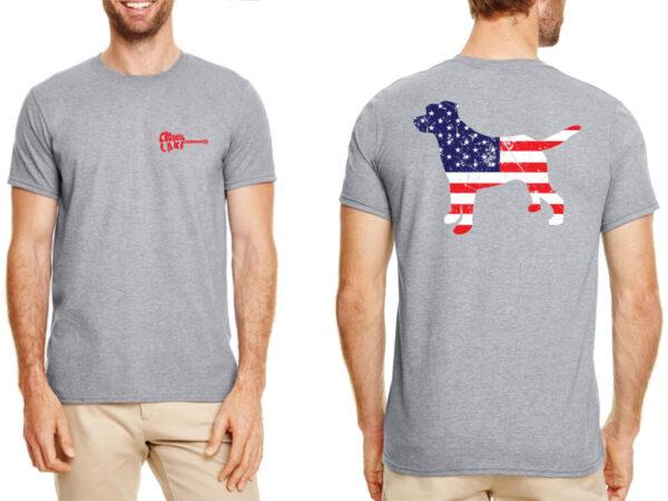 Mens Flag & Dog Shirt